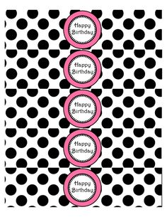 Free Printable – Happy Birthday Polka Dots Pink