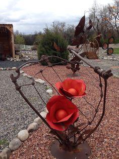 Metal yard art-Laurel MT