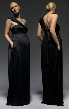 Black Maternity Evening Gown