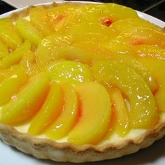 Amaretto Peach Tart recipe