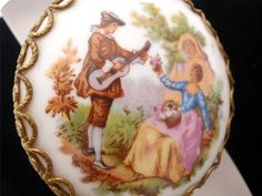 Signed Fraganard Antique Limoges Mirror by TheJewelryLadysStore, $30.00