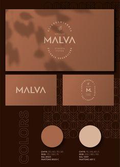 MALVA - club café visual identity on Behance Cafe Branding, Branding Agency, Brand Identity Design, Branding Design, Beauty Salon Logo, Logo Restaurant, Grafik Design, Graphic Design Typography, Graphic Design Inspiration