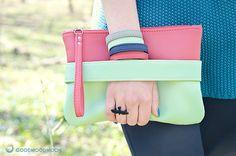 Mint clutch CarryMe purple purse vegan leather by GoodMoodMoon, $39.00
