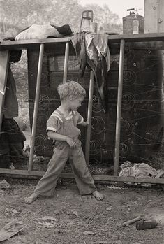 The History Place - Dorothea Lange Photo Gallery: Unhealthy Lifestyle: Son of Destitute Migrant