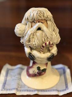 Rare NC Piney Woods Pottery Spagghetti Santa 2003 Collection JGM #413 COA #WHIMSICAL