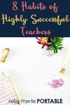 8 Successful Teacher Habits - Tips for Teacher Planning. Definitely a must read for teachers. These planning and organizing tips will help save you important time and ease teacher stress. Stress can kill you! First Year Teachers, New Teachers, Elementary Teacher, Elementary Schools, Teachers Toolbox, School Teacher, Student Behavior, Student Teaching, Team Teaching