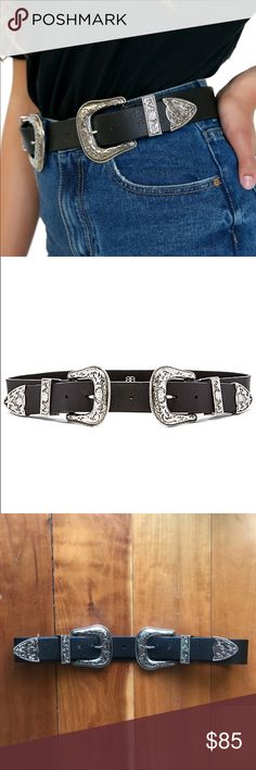 """B-low The Belt Bri Bri Belt Size M This belt is perfect for any season and awesome with any coachella outfit! Looks great with anything from jeans to dresses! This has been worn once and is in excellent, like new condition!   Size Medium measures 30"""" (76.2cm) in length, with a 1.5"""" strap and 2.5"""" buckle (*Measurement is taken from the buckle point to the second to last hole on the extender while both the belt body and extender are fastened together at the second hole) B-Low the Belt…"""
