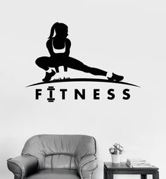 Vinyl Wall Decal Fitness Girl Healthy Lifestyle Sports Motivation Woman (ig3328)