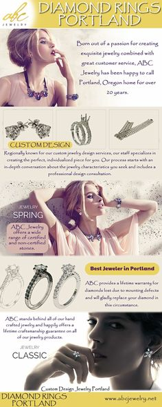 Jewelry Shop, Jewelry Rings, Make Your Own Jewelry, Custom Jewelry Design, Service Design, Diamond Rings, Portland, How To Become, Internet