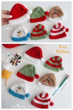Crochet Christmas Decorations, Crochet Christmas Ornaments, Christmas Crochet Patterns, Holiday Crochet, Christmas Knitting, Crochet Gifts, Free Crochet, Christmas Favors, Christmas Tree