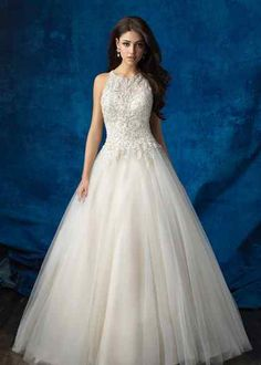 Wedding Dresses, Bridesmaid Dresses, Prom Dresses and Bridal Dresses Allure Wedding Dresses - Style 9359 - Allure Wedding Dresses, Fall This regal ballgown features a high neck and elegant beadwork. Fabric: Tulle and Beaded Lace Allure Bridals, Wedding Bridesmaid Dresses, Wedding Dress Styles, Gown Wedding, Lace Wedding, Wedding Dresses Halter Top, Poofy Wedding Dress, Country Style Wedding Dresses, Princess Style Wedding Dresses