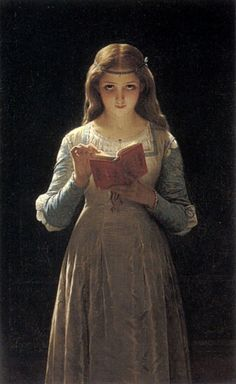 Pierre-Auguste Cot Young Maiden Reading a Book art painting for sale; Shop your favorite Pierre-Auguste Cot Young Maiden Reading a Book painting on canvas or frame at discount price. Reading Art, Woman Reading, Reading People, Children Reading, Reading Books, Pierre Auguste Cot, Art Magique, John Everett Millais, Pre Raphaelite