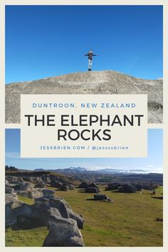 Everything you need to know about the New Zealand Elephant Rocks... New Zealand Houses, New Zealand Landscape, New Zealand South Island, New Zealand Travel, Nature Photos, Places To Visit, Rocks, Elephant, News