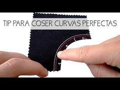 Tip para coser curvas perfectas - YouTube