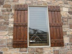 houses with rustic shutters - Google Search