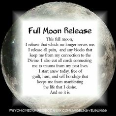 new moon ritual And so it is! Full Moon Spells, Full Moon Ritual, Full Moon Meditation, Healing Meditation, Magick Spells, Witchcraft, Healing Spells, Chakras, Smudging Prayer