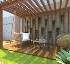 The pergola kits are the easiest and quickest way to build a garden pergola. There are lots of do it yourself pergola kits available to you so that anyone could easily put them together to construct a new structure at their backyard. Backyard Decor, House Design, Pergola Kits, Terrace Design, Backyard Design, Balcony Decor, Patio Design, Pergola Designs, Home Garden Design