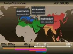 History of Religions Animated map of the 5 major religions