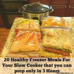 20 Healthy Freezer Meals For Your Slow Cooker that you can prep in only 3 hours!