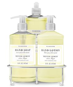 Dish Soap, Hand Soap & Lotion Set with Wire Caddy - Meyer Lemon #williamsonoma