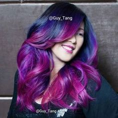 Ombre hair color is here to stay. Be inspired with these 15 beautiful ombre hair color ideas and get ready for a hair makeover! Dip Dye Hair, Dye My Hair, Dip Dyed, Love Hair, Gorgeous Hair, Amazing Hair, Pretty Hair, Hair Color Purple, Hair Colors