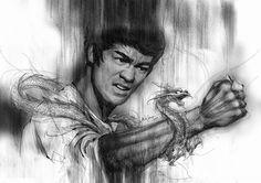 'Inspirational People: Bruce Lee' Artwork: Lee Wee Chong