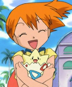 Misty and Togepi they look so happy! POKEMON