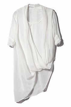 ROMWE   Asymmetric White Pleated Shirt, The Latest Street Fashion