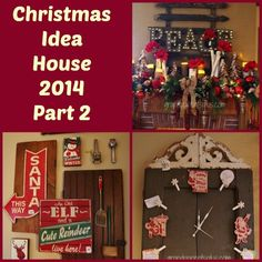 I'm back with more Christmas inspiration from the Christmas Idea House 2014 Part 2. Hope you're ready for more Christmas decorating ideas! There are lots of vintage finds used throughout the house.