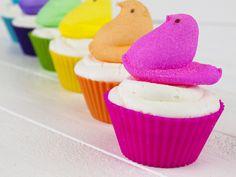 peep cupcakes... these are cute @Stephanie Clifford