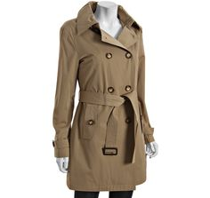 MICHAEL Michael Kors khaki cotton blend double breasted lined trench...soooo need new trench for London