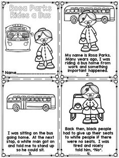 Rosa Parks Black History Month Activities by First Grade Fun Times Months Song, Black History Month Activities, Kids Homework, Art Therapy Projects, Classroom Board, Study History, Rosa Parks, Science Experiments Kids, Preschool Learning