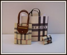 Bag dollhouse miniature 1:12 scale. 3 Pcs by DesignBA on Etsy, $36.00