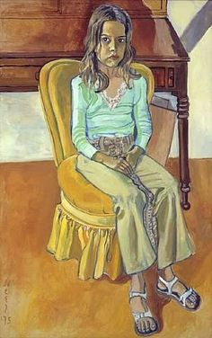 Alice Neel - Olivia, 1975 Oil on canvas, x Famous Portrait Artists, Famous Portraits, Portrait Paintings, Child Portraits, Portrait Ideas, Alice, Artwork Images, Art Moderne, Musa
