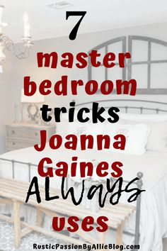 The secret to decorate like Joanna Gaines Fixer Upper Bedrooms. I will show you exactly how to decorate the easy way just like Joanna Gaines designs her Fixer Upper Bedrooms. Look like a pro designer with this 1 tip. Joanna Gaines Design, Joanna Gaines Decor, Joanna Gaines Farmhouse, Magnolia Joanna Gaines, Gaines Fixer Upper, Fixer Upper Bedrooms, Farmhouse Bedroom Decor, Decorating Tips, Wall Decor