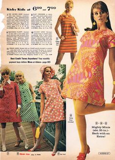 Aldens catalog 60s - had the stripe dress with chain.