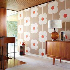Orla Kiely | UK | House | Wallpaper | Giant Abacus Flower Wallpaper (0WALABF501) | Mink