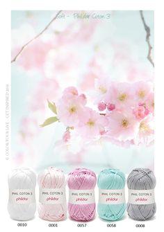 Soft - Heerlijke zachte tinten voor een baby dekentje, haakkatoen van Phildar - Coton 3