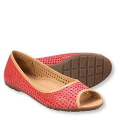 Women's Bean's Peep-Toe Perforated Skimmers
