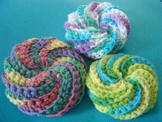 Spiral Scrubbie By Judith Prindle - Free Crochet Pattern - (ravelry)