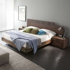 Air Platform Bed with Air Nightstand