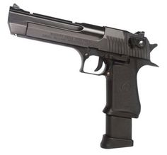 IMI Desert Eagle .50mm with extended clip.  CO2 blowback.  A true cannon.