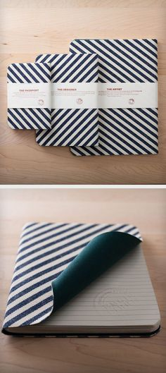 Striped Denim notebooks // designer's tools