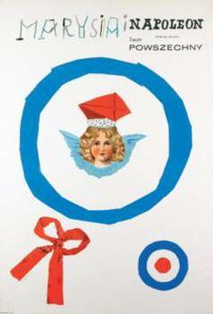 Marysia i Napoleon - Henryk Tomaszewski Polish film poster, exhibition, poster, designers, Posters from Poland