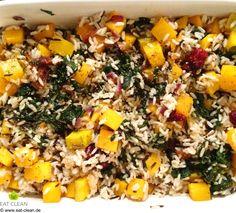 Naturreis-Kürbispfanne mit Feigen und Spinat | EAT CLEAN - CLEAN EATING