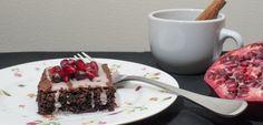 Dark Chocolate and Pomegranate Spice Cake