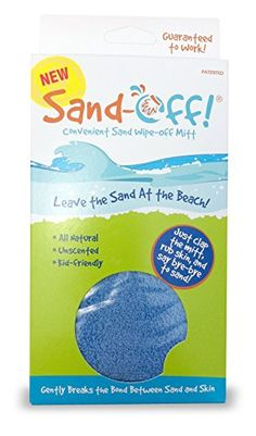 Water Sports Sand-Off! Sand Wipe Off Mitt, Blue, 2015 Amazon Top Rated Beach Toys #Toy
