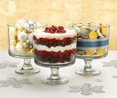 Our Trifle Bowl is great for holding, displaying and layering. Try our Black Forest Trifle recipe!