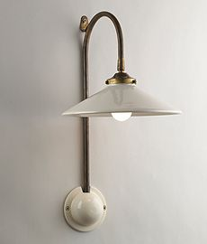 French Ceramic Wall Light. Hector Finch