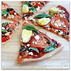 Whole Wheat Vegetarian Pizza | My San Francisco Kitchen